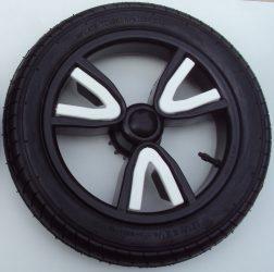 Tömör 3V (külsős) Babakocsi Kerék Fekete nagy hátsó