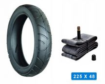 Babakocsi belső és külső gumi 225*48