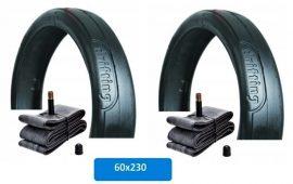 Babakocsi belső és külső gumi garnitúra (2 db) 60*230