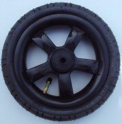 """Omega Pumpálható (tömlős) fekete 10"""" Babakocsi kerék első kicsi"""