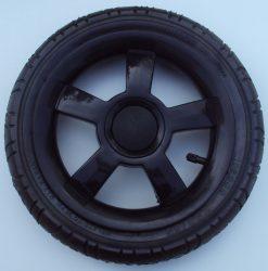 """Omega Pumpálható (tömlős) fekete 12"""" Babakocsi kerék hátsó nagy"""