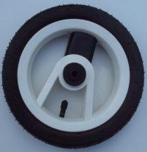 """Adbor Lux. Pumpálható (tömlős) 10"""" Babakocsi kerék fehér-fekete kicsi első"""