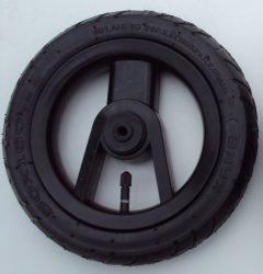 """Adbor Lux Pumpálható (tömlős) 10"""" Babakocsi kerék fekete kicsi első"""