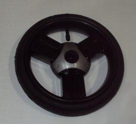 """Drifting Pumpálható (tömlős) fekete-szürke 10"""" Babakocsi kerék első kicsi"""