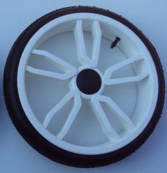 Tömör Faster PU (külsős) fehér Gondozásmentes Babakocsi Kerék Nagy hátsó